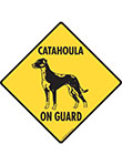 Catahoula On Guard Dog Signs and Sticker