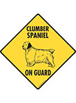 Clumber Spaniel On Guard Dog Signs and Sticker