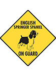 English Springer Spaniel On Guard Dog Signs and Sticker