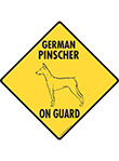 German Pinscher On Guard Dog Signs and Sticker