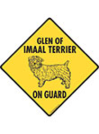Glen of Imaal Terrier On Guard Dog Signs and Sticker