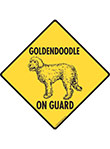 Goldendoodle On Guard Dog Signs and Sticker