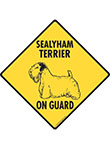 Sealyham Terrier On Guard Dog Signs and Sticker