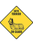 Skye Terrier On Guard Dog Signs and Sticker