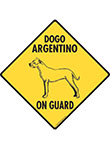 Flat-Coated Retriever On Guard Dog Signs and Sticker