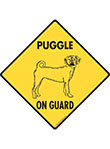 Puggle On Guard Signs