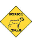Boerboel On Guard Dog Signs and Sticker