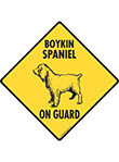 Boykin Spaniel On Guard Dog Signs and Sticker