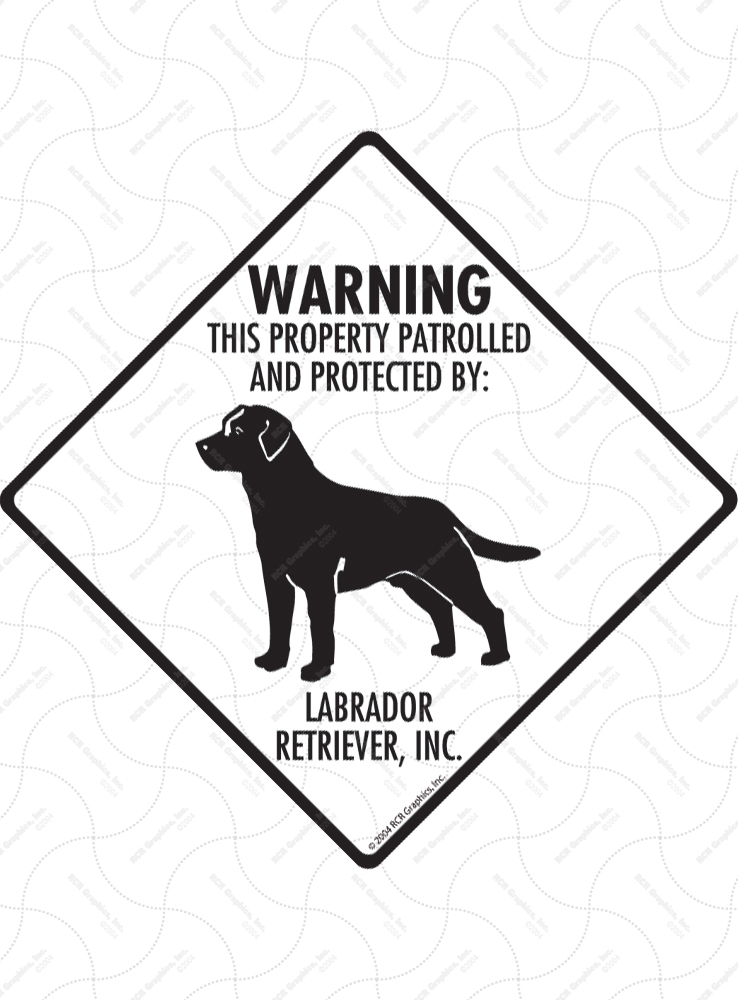 Property Patrolled Aluminum Dog Signs