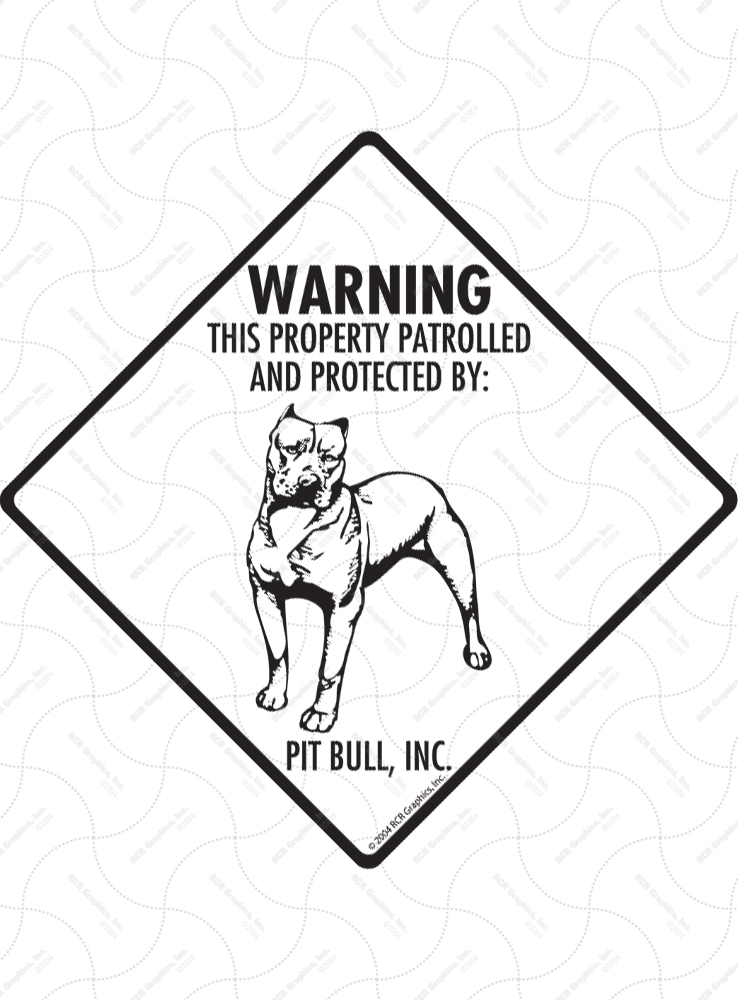Warning! Property Patrolled and Protected Signs