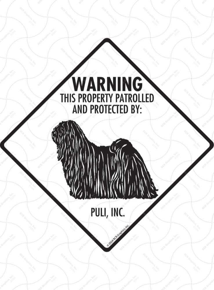 Puli! Property Patrolled Signs and Sticker