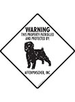 Affenpinscher! Property Patrolled Signs and Sticker