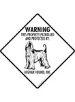 Afghan Hound! Property Patrolled Signs and Sticker