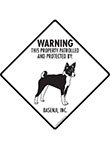Basenji! Property Patrolled Signs and Sticker