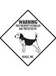 Beagle! Property Patrolled Signs and Sticker