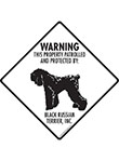 Black Russian Terrier! Property Patrolled Signs and Sticker