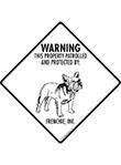 French Bulldog (Frenchie) Property Patrolled Signs & Sticker