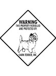 Cairn Terrier! Property Patrolled Signs and Sticker