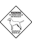 Chesapeake Bay Retriever! Property Patrolled Signs & Sticker