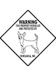 Chihuahua (Short Hair) Property Patrolled Signs and Sticker
