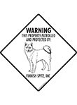 Finnish Spitz! Property Patrolled Signs and Sticker