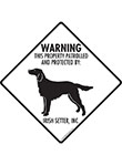 Irish Setter! Property Patrolled Signs and Sticker