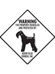 Jack Russell Terrier! Property Patrolled Signs and Sticker