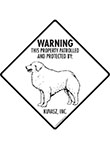 Kuvasz! Property Patrolled Signs and Sticker