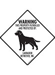 Labrador Retriever! Property Patrolled Signs and Sticker