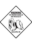 Lhasa Apso! Property Patrolled Signs and Sticker