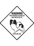 Papillon! Property Patrolled Signs and Sticker