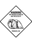 Pekingese! Property Patrolled Signs and Sticker