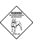 Pit Bull Terrier! Property Patrolled Signs and Sticker