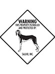 Saluki! Property Patrolled Signs and Sticker