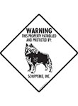Schipperke! Property Patrolled Signs and Sticker