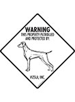 Vizsla! Property Patrolled Signs and Sticker