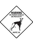 Whippet! Property Patrolled Signs and Sticker