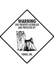 Yorkshire Terrier! Property Patrolled Signs and Sticker
