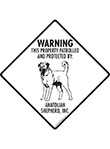 Anatolian Shepherd! Property Patrolled Signs and Sticker