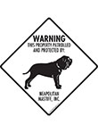 Neapolitan Mastiff! Property Patrolled Signs and Sticker