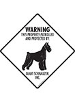 Giant Schnauzer! Property Patrolled Signs and Sticker