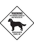 American Water Spaniel! Property Patrolled Signs and Sticker