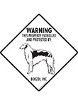 Borzoi! Property Patrolled Signs and Sticker
