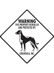 Catahoula! Property Patrolled Signs and Sticker