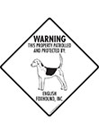 English Foxhound! Property Patrolled Signs and Sticker