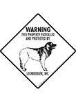 Leonberger! Property Patrolled Signs and Sticker