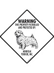 Norfolk Terrier! Property Patrolled Signs and Sticker