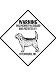 Otterhound! Property Patrolled Signs and Sticker