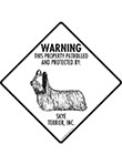 Skye Terrier! Property Patrolled Signs and Sticker