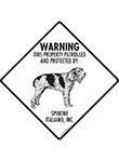 Spinone Italiano! Property Patrolled Signs and Sticker